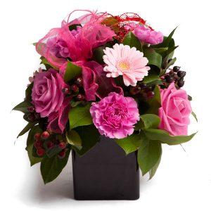 mixed cube flower arrangement