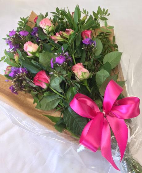 Flat bouquet of flowers
