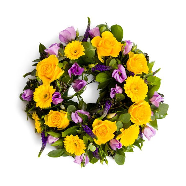 Wreath - loose, mixed flowers