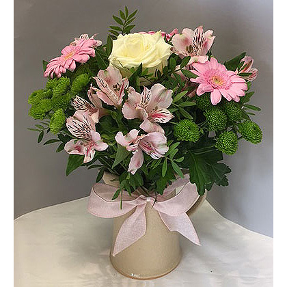 Arrangement of flowers in a jug