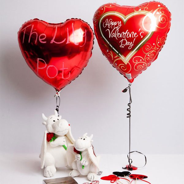 Valentine's day balloon or dragon